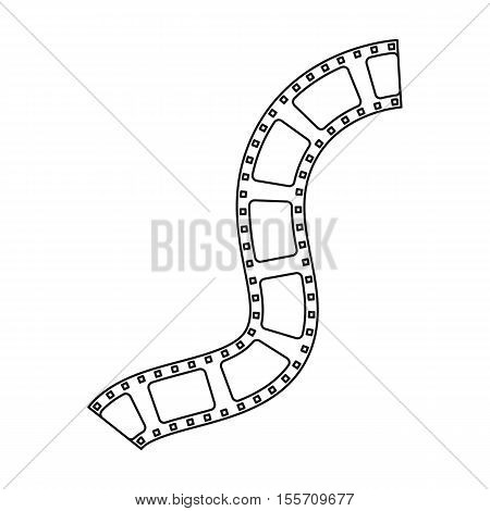 Film stock icon in outline style isolated on white background. Films and cinema symbol vector illustration.