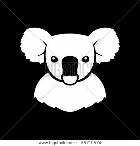 Koala Bear Sign Logo. Coala. Vector Illustration