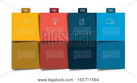 Table, schedule, organizer, planner, notepad, timetable. Step by step template, infographic.
