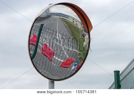 image of street mirrors the review turns