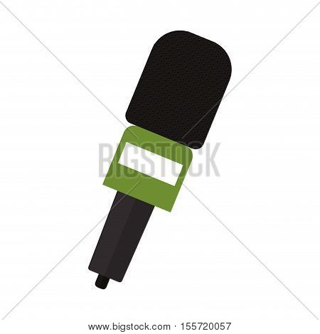 microphone wireless with green support vector illustration