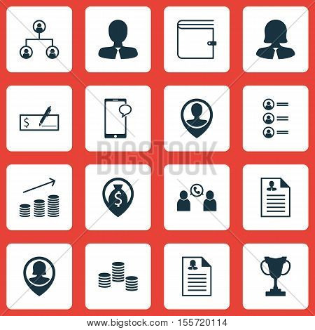 Set Of Management Icons On Coins Growth, Wallet And Tree Structure Topics. Editable Vector Illustrat