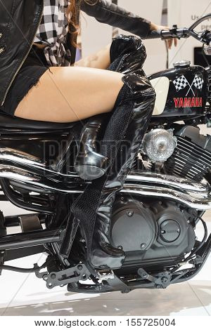 Yamaha Motorbike On Display At Eicma 2016 In Milan, Itally