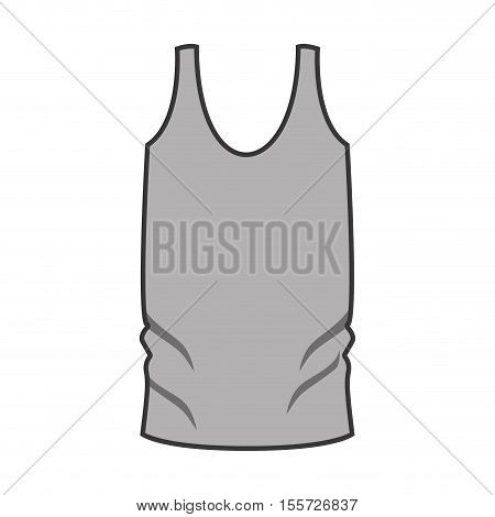 monochrome man undershirt with vertical lines vector illustration