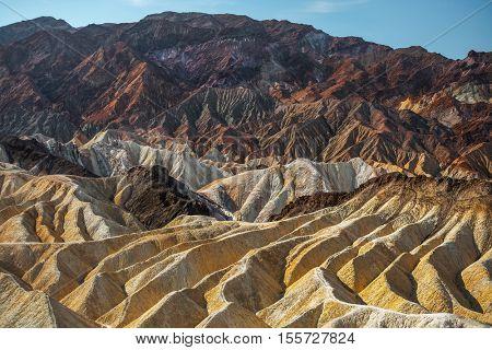 Zabriskie point in the Death Valley National Park, USA
