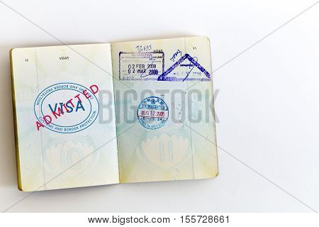 Visa Admitted Stamp In Passport