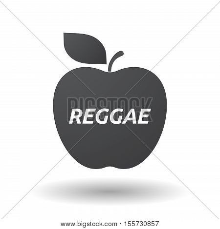 Isolated Apple Fruit With    The Text Reggae