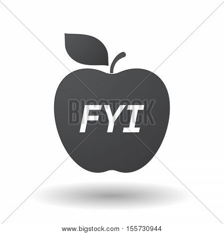 Isolated Apple Fruit With    The Text Fyi