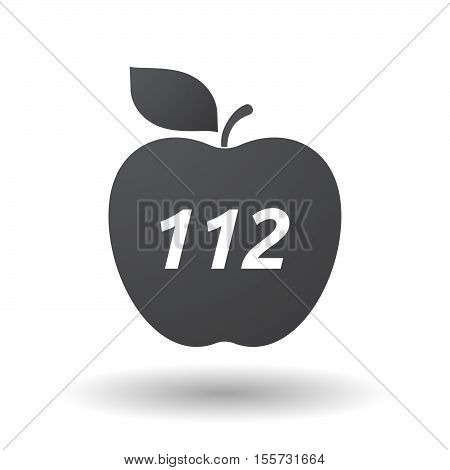 Isolated Apple Fruit With    The Text 112