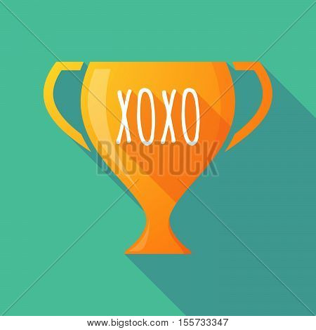Long Shadow Award Cup With    The Text Xoxo
