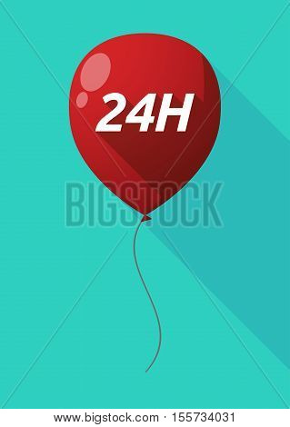 Long Shadow Balloon With    The Text 24H