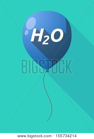 Long Shadow Balloon With    The Text H2O