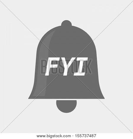 Isolated Bell Icon With    The Text Fyi