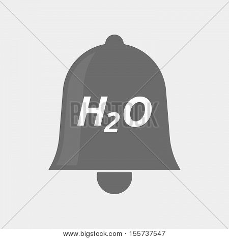 Isolated Bell Icon With    The Text H2O