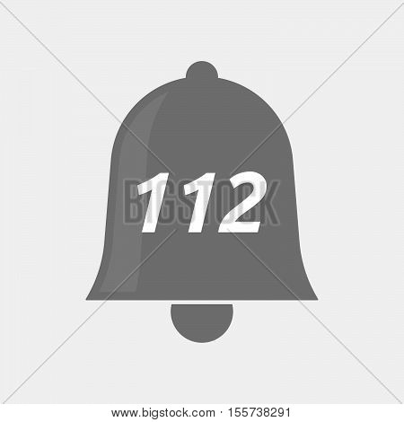 Isolated Bell Icon With    The Text 112