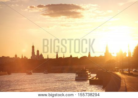 The most beautiful sunset in Moscow I've ever seen