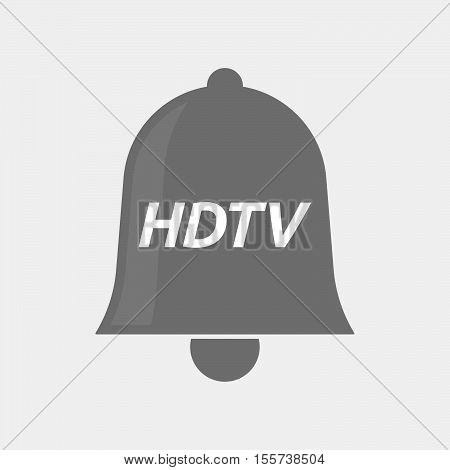 Isolated Bell Icon With    The Text Hdtv