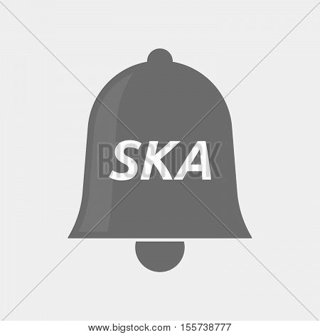 Isolated Bell Icon With    The Text Ska