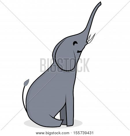 Character elephant flat. Elephant isolated baby elephant elephant vector illustration