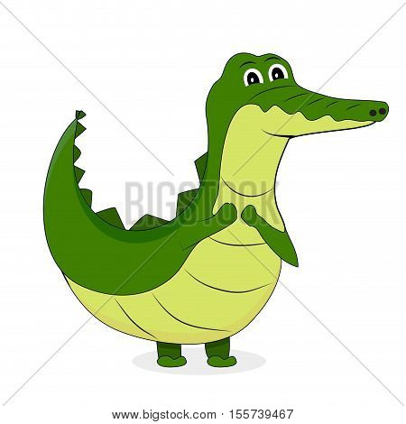 Cute crocodile character. Alligator and crocodile skin vector crocodile isolated crocs illustration