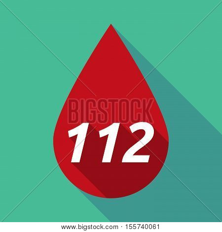 Long Shadow Blood Drop With    The Text 112