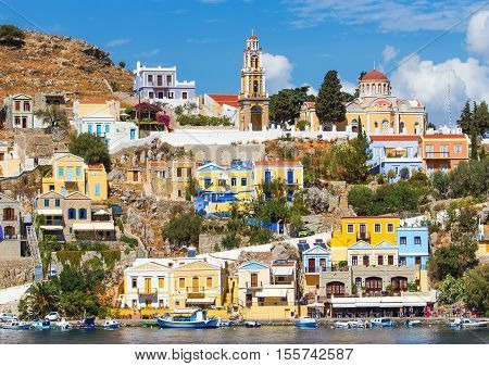 doll houses of Symi , Church chapel, on a Sunny summer day