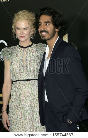 LOS ANGELES - NOV 6:  Nicole Kidman, Dev Patel at the 20th Annual Hollywood Film Awards  at Beverly Hilton Hotel on November 6, 2016 in Beverly Hills, CA