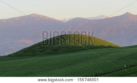 Oval Hill. Anatolian valleys and hills. nature panorama
