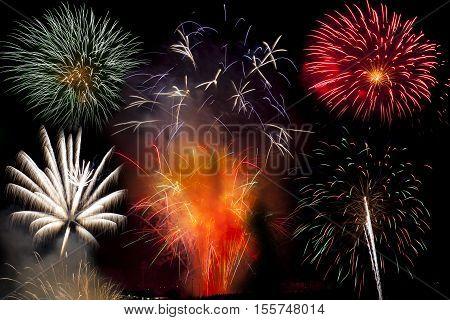Bonfire night Firework display at St Helen's sports ground in Swansea UK