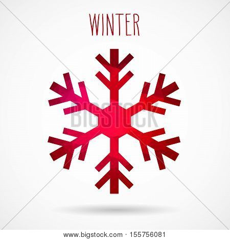 Winter Abstract Geometric Snowflake