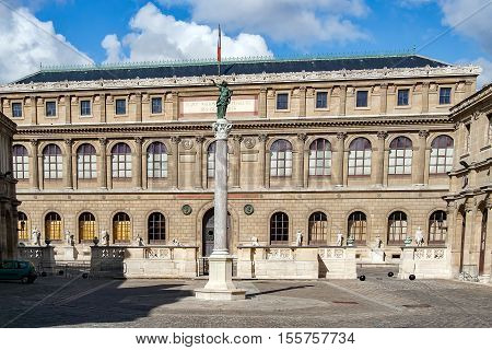 PARIS, FRANCE, APRIL 25 2016. Ecole des Beaux-Arts. It is made up of a complex of buildings located at 14 rue Bonaparte, between the quai Malaquais and the rue Bonaparte