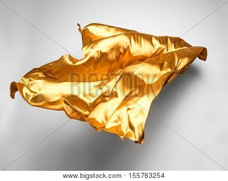 golden flying fabric - art object, design element