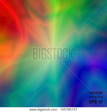 Colored Bright Iridescent Abstract Background. Universal Rainbow Abstraction.