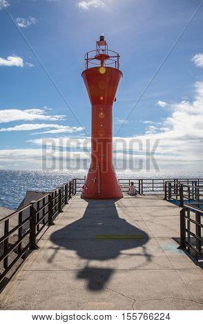 Lighthouse of Los Cristianos harbor (Tenerife, Spain)