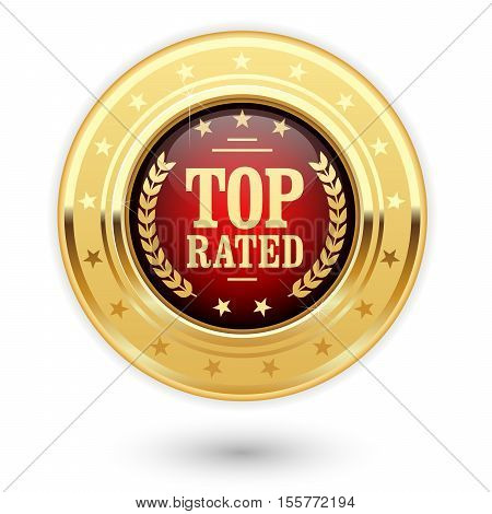 Top rated medal - rating golden insignia