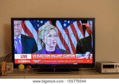 Donald J. Trump New Usa President Tv News