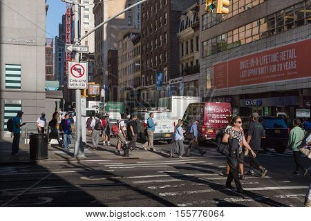 New York And New Yorkers. Manhattan Street Scene