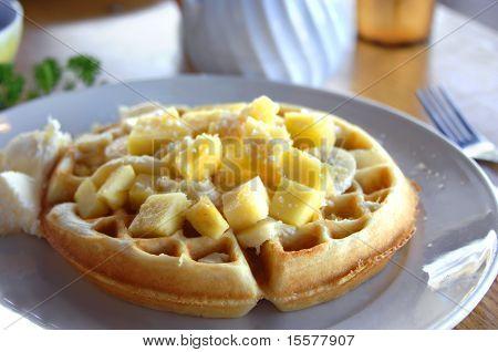 Belgian Waffles Hawaiian Style