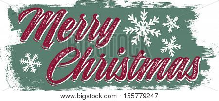 Vintage Merry Christmas Holiday Banner