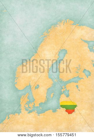 Map Of Scandinavia - Lithuania