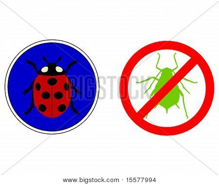 Aphid Ladybird Traffic Signs