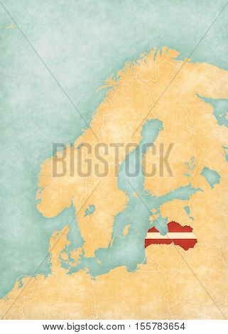 Map Of Scandinavia - Latvia