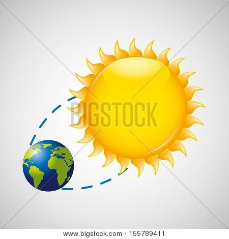 earth rotation the sun icon design vector illustration eps 10