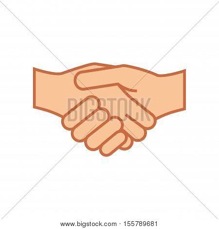 hand shake gesture icon image vector illustration design