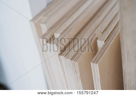 Plywood cuttings for use as textures or background.