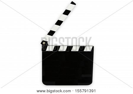 Cinema Clipboard isolated on white background. Shot in Studio.