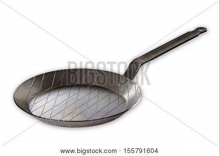 New Iron pan isolated on white background