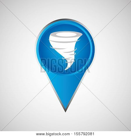 signal weather. tornado pin design vector illustration eps 10