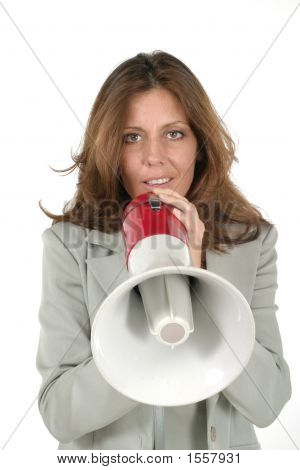 Attractive Business Woman With Megaphone 3