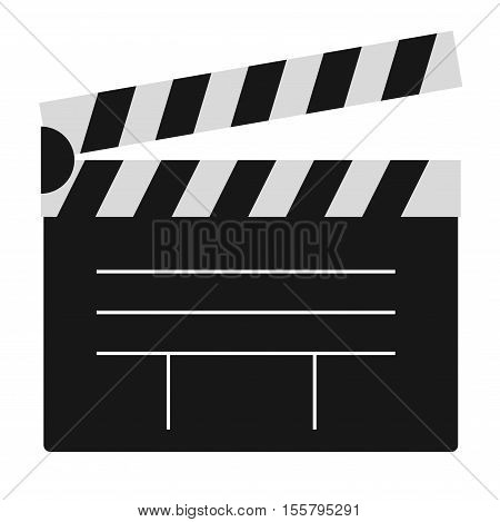 Cinema film clapper board vector illustration icon isolated